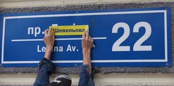 Проект переименования улиц Харькова, старые и новые названия (shcheva)